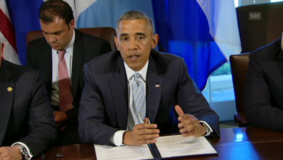 Obama zu den Migrantenkindern (englischer Originalton)