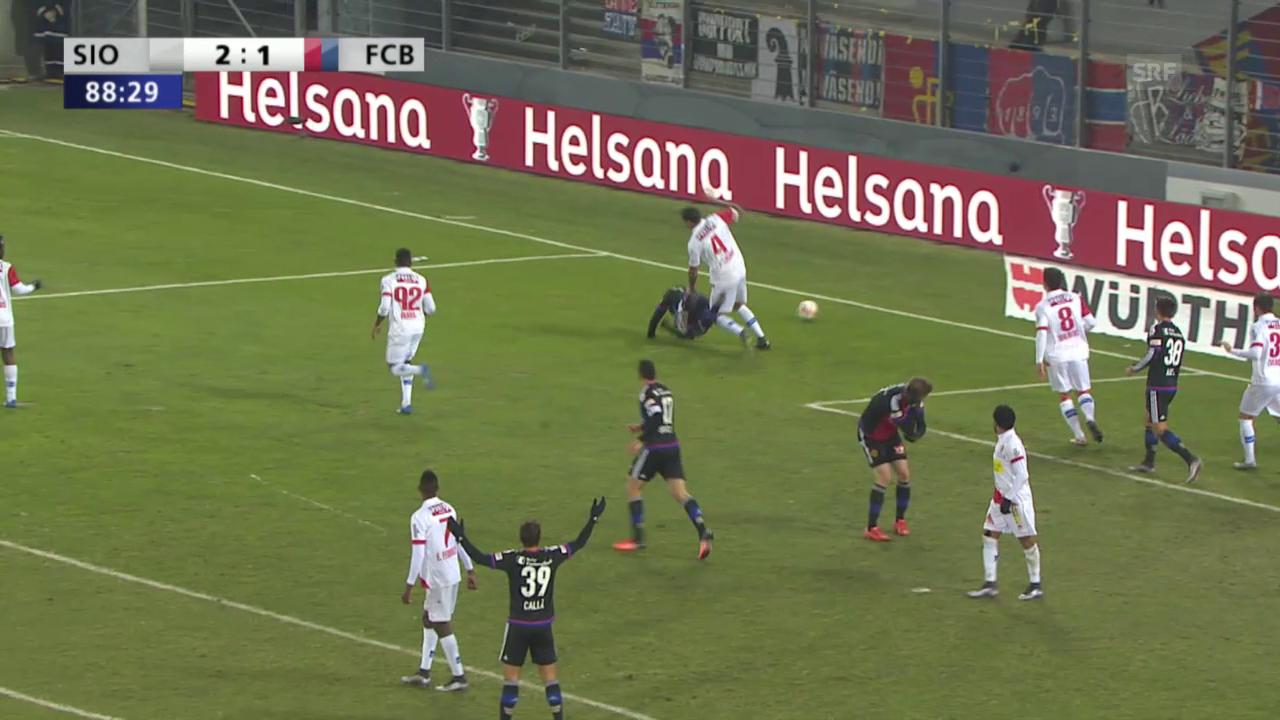 Fussball: Schweizer Cup, Sion - Basel, 2:2 durch Janko