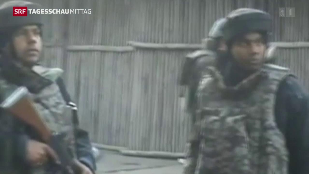 Mutmassliche Extremisten überfallen Militärbasis in Indien
