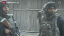 Video «Mutmassliche Extremisten überfallen Militärbasis in Indien» abspielen