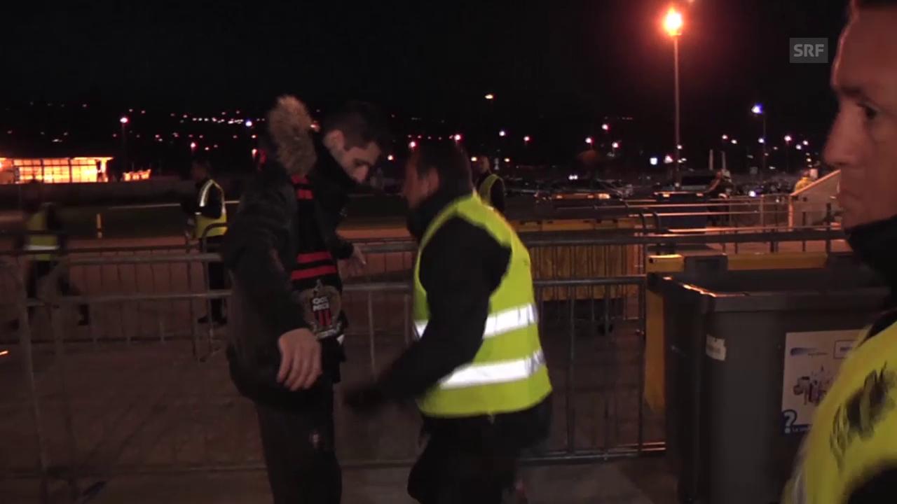 Fussball: Ligue 1, Nizza - Lyon, Stadion Kontrolle
