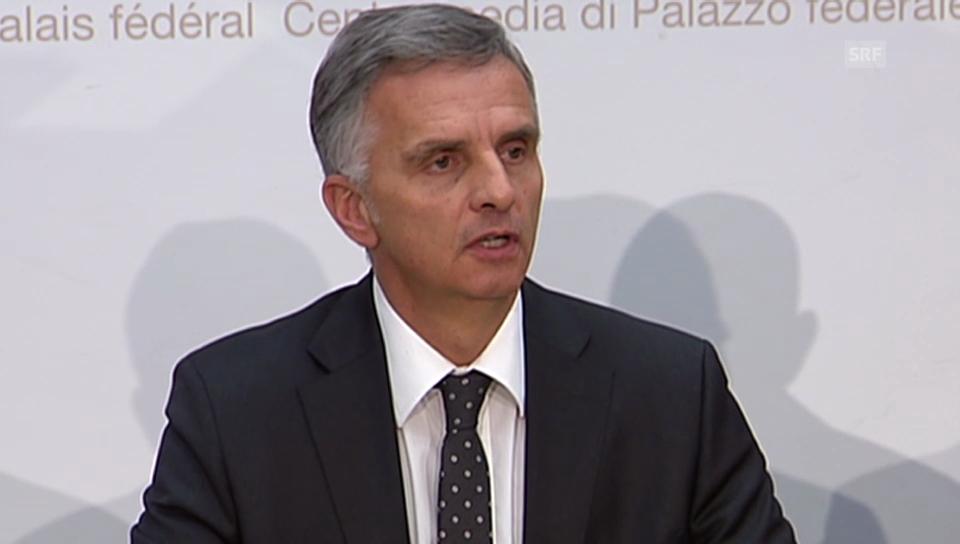 Didier Burkhalter zur Europapolitik (französisch).
