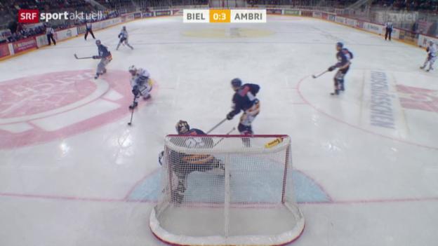 Video «Eishockey: NLA, Biel - Ambri-Piotta» abspielen
