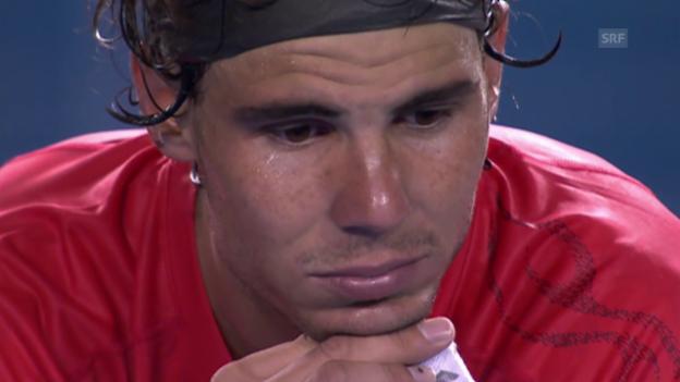 Video «Die Leiden des Rafael Nadal in Melbourne» abspielen