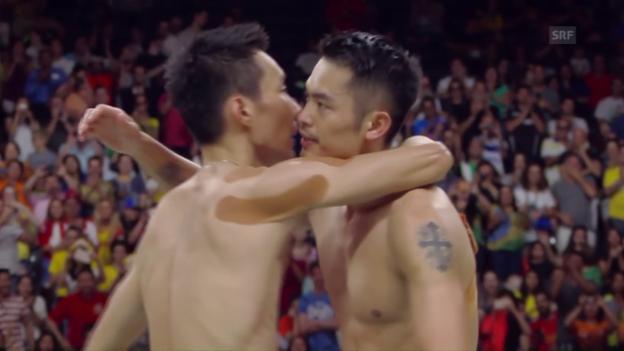 Video «Leibchentausch im Badminton» abspielen