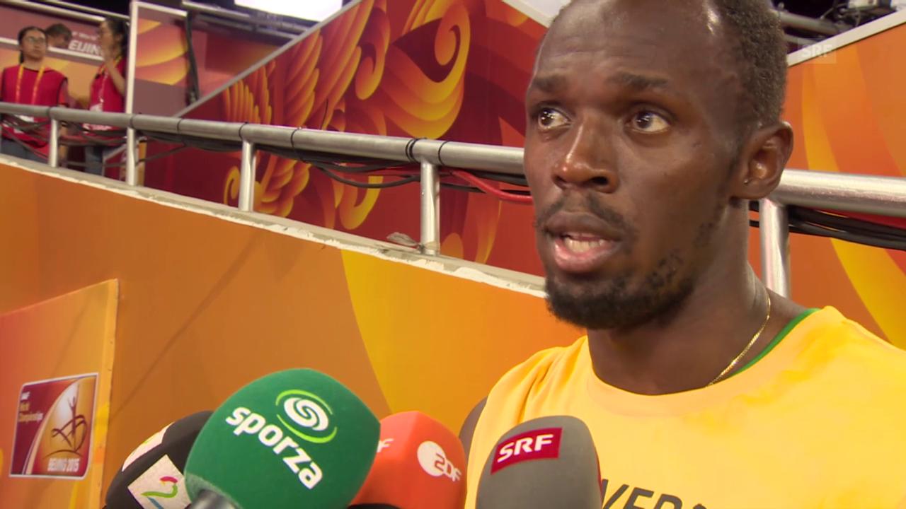 Leichtathletik: WM Peking, Interview Bolt