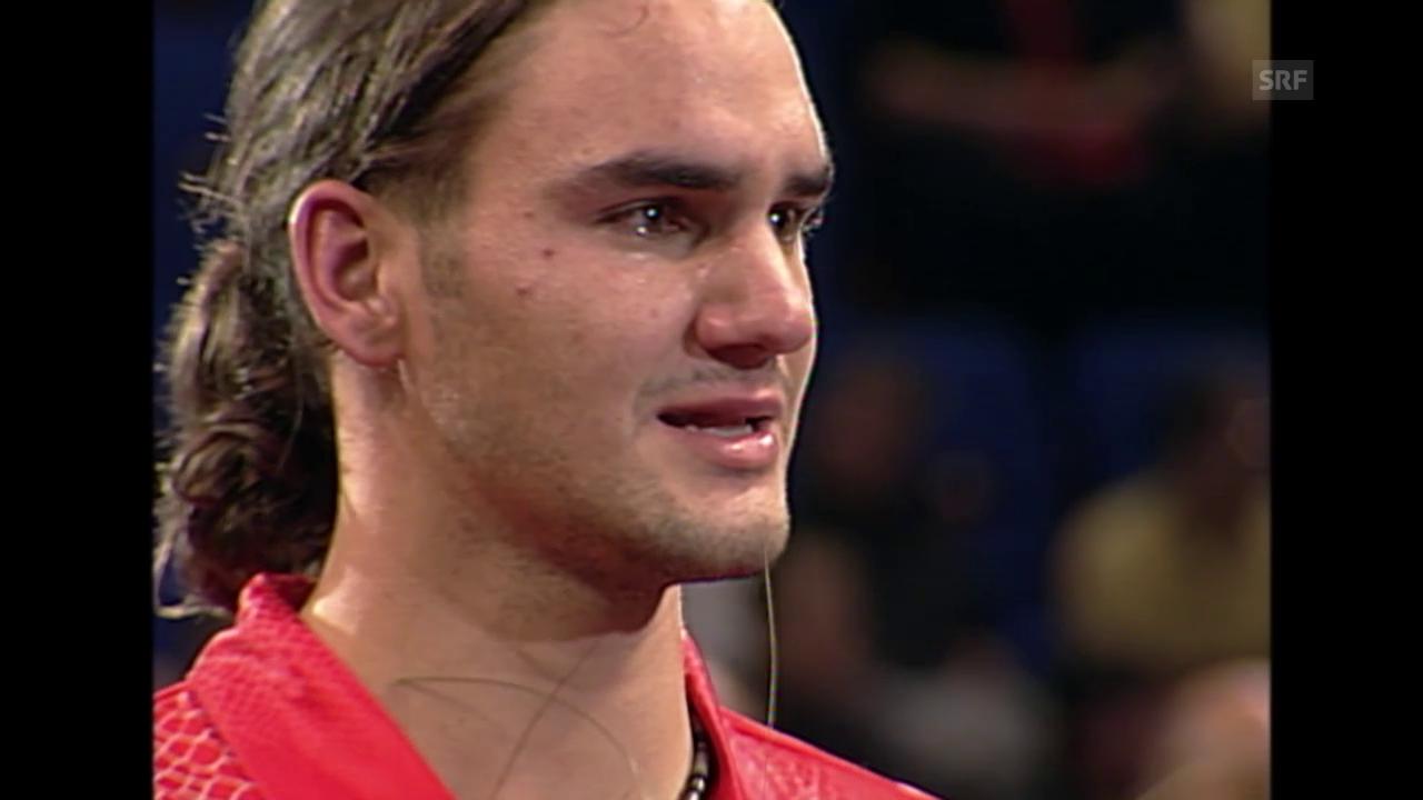 Tennis: Swiss Indoors, Federers Tränen 2001