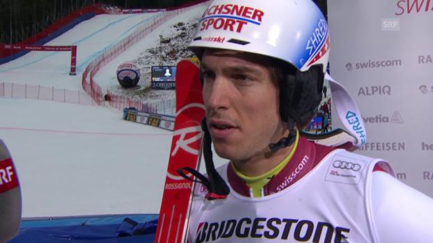 Video «Ski: Carlo Janka im Siegerinterview» abspielen