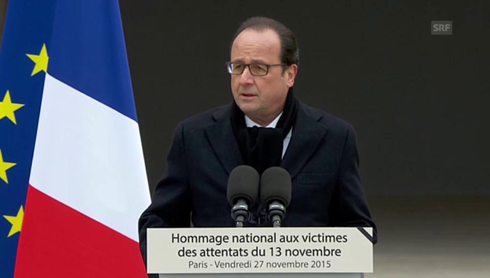 Hollande: «Diesen Tag werden wir nie vergessen»