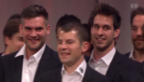 Video «Die Eishockey-Nationalmannschaft – Party für die Vize-Weltmeister» abspielen