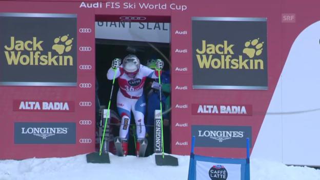 Video «Ski Alpin: Weltcup, Riesenslalom Alta Badia, 2. Lauf Manuel Pleisch» abspielen
