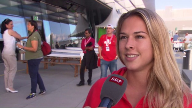 Video «Giulia Steingruber vor dem Abflug: «Ich beginne mit einem Film»» abspielen