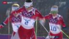 Video «Langlauf: 30 km Massenstart-Rennen der Frauen» abspielen