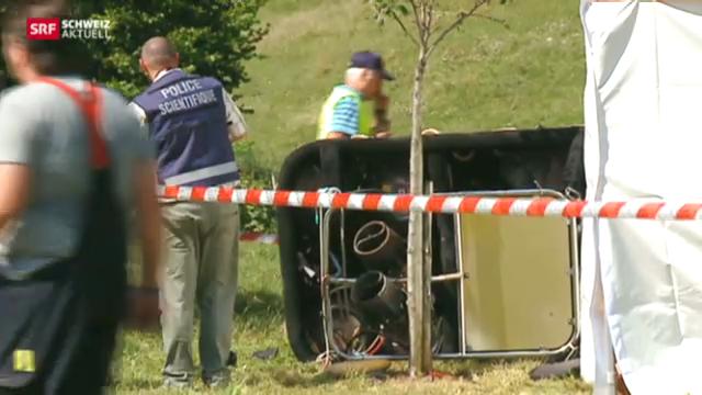 Toter bei Ballonabsturz in der Westschweiz
