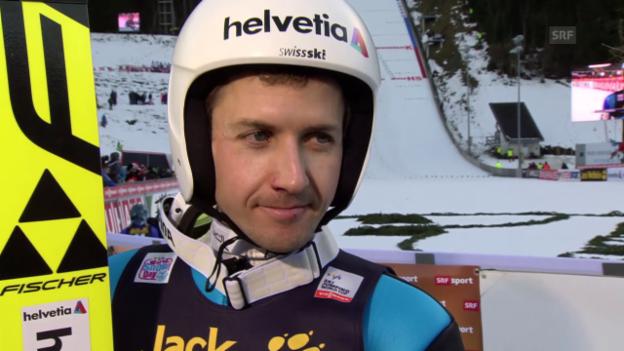 Video «Skispringen: Weltcup Engelberg, Interview Ammann» abspielen
