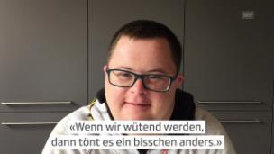 Video «Johannes Dumelin (26) lebt mit dem Down-Syndrom und erzählt aus seinem Alltag.» abspielen