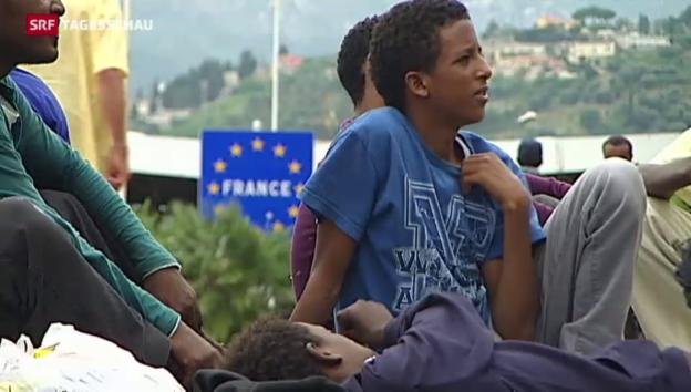 Video «Italien: Flüchtlinge im Hungerstreik» abspielen