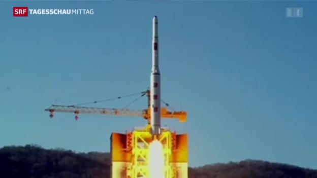 Video «Nordkorea und die Langstrecken-Rakete» abspielen