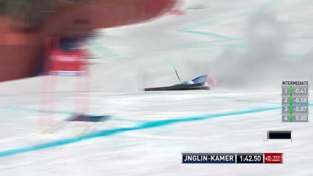 Video «Ski: Jnglin-Kamer scheidet in Lake Louise aus» abspielen