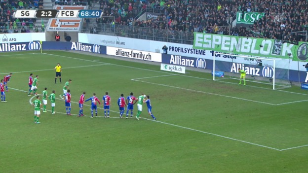 Video «Fussball: Super League, Rodriguez verschiesst Penalty» abspielen