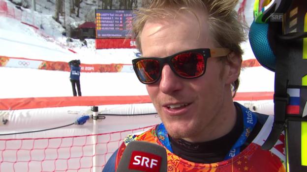Video «Ski: Riesenslalom Männer Sotschi, Interview Ted Ligety (sotschi direkt, 19.2.14)» abspielen