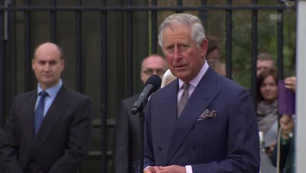 Video «Prinz Charles gratuliert der Queen» abspielen