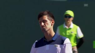 Video «Djokovic scheitert an Paire» abspielen