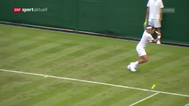 Video «Federer und Wawrinka mit tückischer Wimbledon-Auslosung» abspielen