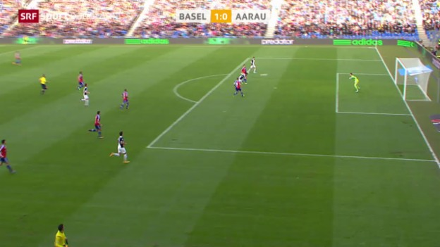 Video «Fussball: Basel - Aarau» abspielen