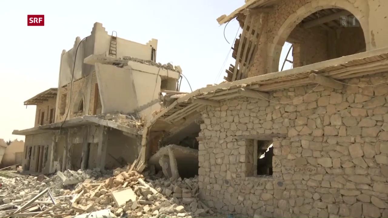 Al-Qaryatain ist ein Trümmerfeld