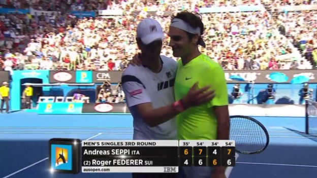 Video «Tennis: Australian Open, Matchball bei Federer - Seppi» abspielen