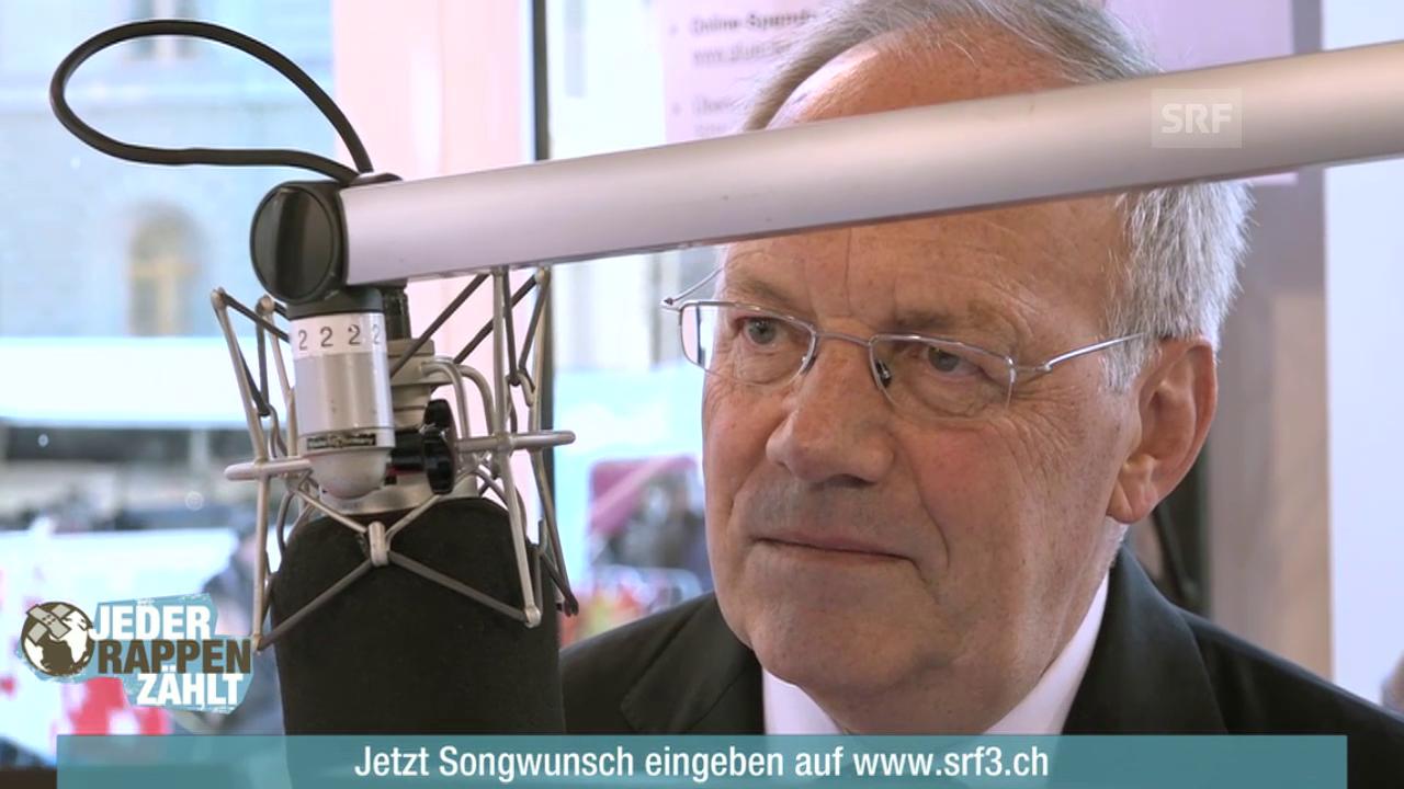 Bundesrat Johann Schneider-Ammann in der Glasbox