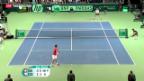 Video «Davis-Cup: Berdych siegt gegen Wawrinka» abspielen