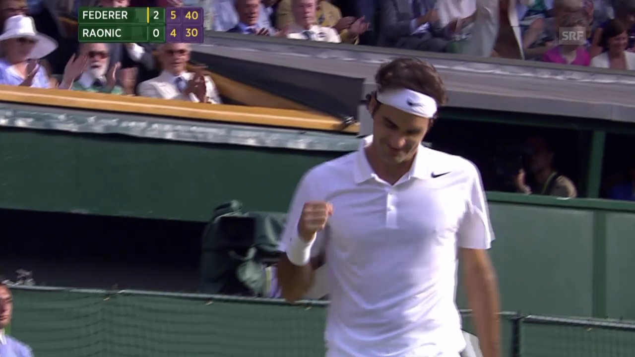 Tennis: Wimbledon-Halbfinal Federer - Raonic