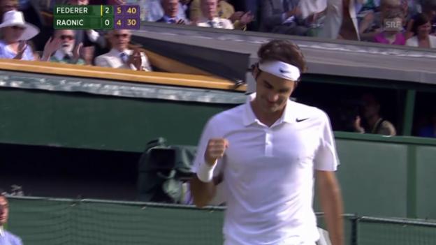 Video «Tennis: Wimbledon-Halbfinal Federer - Raonic» abspielen
