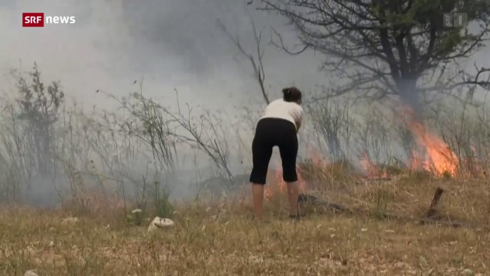 Brände bedrohen griechische Hauptstadt Athen