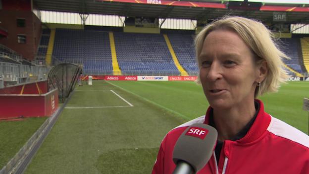 Video «Voss-Tecklenburg: «Es braucht auch spielerische Momente von uns»» abspielen