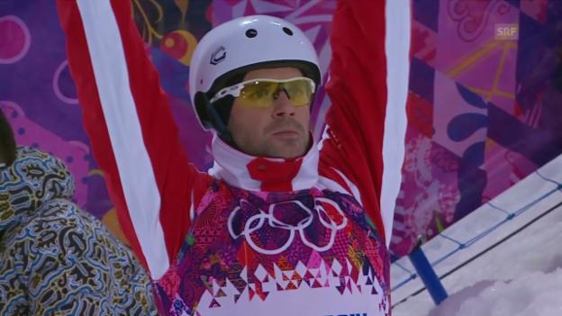Video «Ski Freestyle, Aerials: Zusammenfassung Qualifikation (17.2.2014)» abspielen