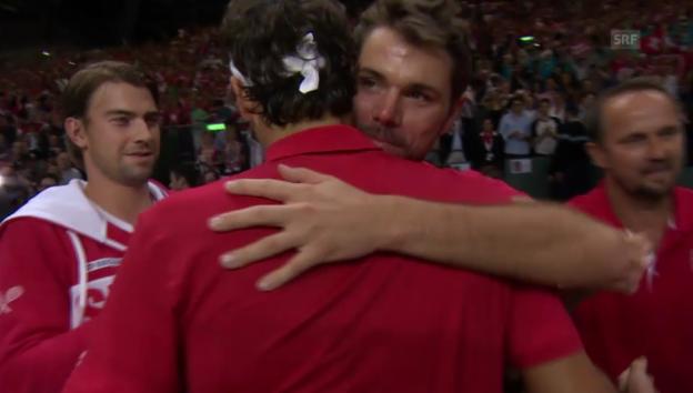 Video «Viertelfinal gegen Kasachstan, Federer - Golubew: Die entscheidenden Ballwechsel» abspielen