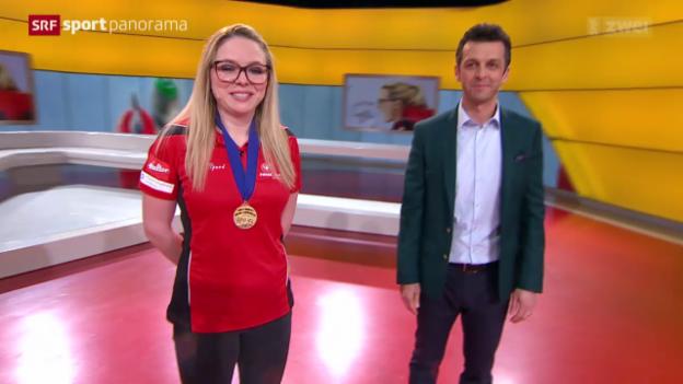 Video «Studiogast: Curling-Weltmeisterin Alina Pätz» abspielen