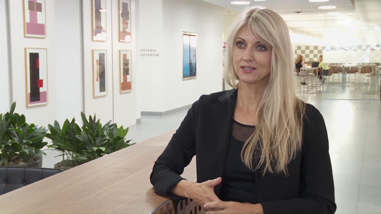 Yvonne Seitz setzt sich bei AXA für flexible Arbeitsmodelle ein.