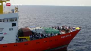 Video «Kritik an Italien wegen Flüchtlingsschiff Aquarius» abspielen