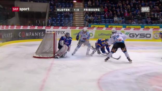 Video «NLA: Kloten - Fribourg («sportaktuell»)» abspielen