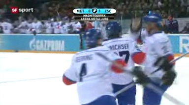 Video «Eishockey: Metallurg Magnitogorsk - ZSC Lions» abspielen
