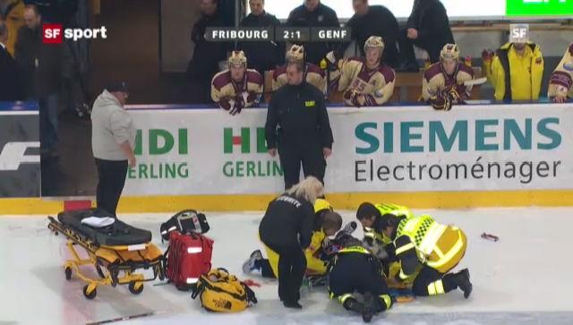 Der Check von Samuel Friedli gegen Fribourgs Lukas Gerber («sportaktuell» vom 24. November 2012)