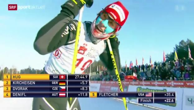 Video «Nordische Kombination: Tim Hug mit erstem Weltcup-Sieg» abspielen