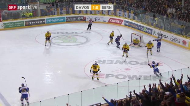 Video «Eishockey: Playoffs 2015, Davos-Bern» abspielen