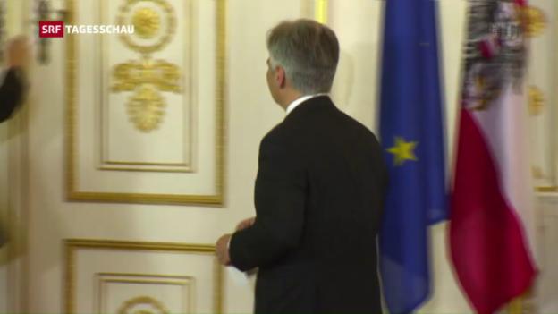 Video «Rücktritt von Österreichs Regierungschef Faymann» abspielen