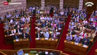 Video «Griechen stimmen für Reformplan» abspielen