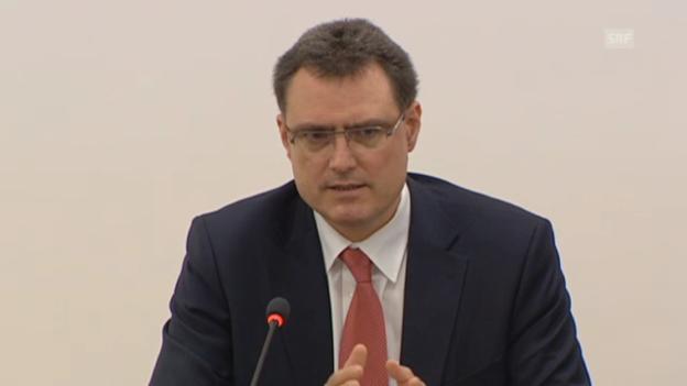 Video «SNB-Präsident Jordan hält an Mindestkurs fest» abspielen